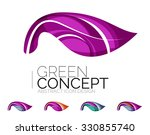 set of abstract eco plant icons ... | Shutterstock .eps vector #330855740