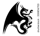 vector sign. dragon isolated on ... | Shutterstock .eps vector #330856703