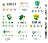 set of company logotype... | Shutterstock . vector #330856718