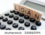 calculator with the word loan... | Shutterstock . vector #330860594