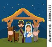 christmas season cartoon... | Shutterstock .eps vector #330861956