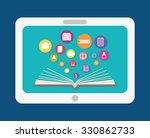 e learning or online education... | Shutterstock .eps vector #330862733
