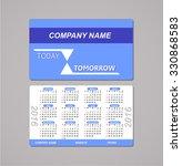 template design pocket calendar ... | Shutterstock .eps vector #330868583
