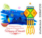 illustration of happy diwali... | Shutterstock .eps vector #330869150