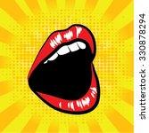 pop art lips. vector... | Shutterstock .eps vector #330878294