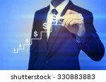 closeup image of businessman...   Shutterstock . vector #330883883
