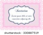retro invitation. excellent... | Shutterstock .eps vector #330887519