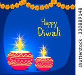 happy diwali | Shutterstock .eps vector #330889148