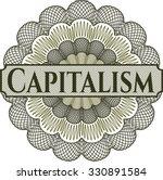 capitalism rosette | Shutterstock .eps vector #330891584