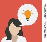 big idea concept with light... | Shutterstock .eps vector #330903596