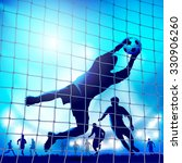 goalkeeper in action. catches... | Shutterstock .eps vector #330906260