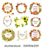 collection of autumn frames | Shutterstock .eps vector #330906359