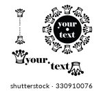 set logo or label with king... | Shutterstock .eps vector #330910076
