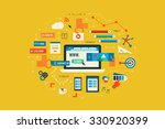 illustration of website design... | Shutterstock .eps vector #330920399