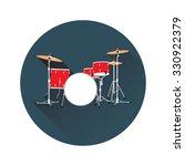 Vector Illustration Of Drum Set