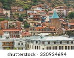narikala fortress and the old... | Shutterstock . vector #330934694