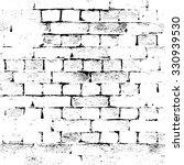 brick wall silhouette pattern....   Shutterstock .eps vector #330939530