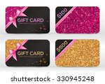 Set Of Golden And Pink Glitter...