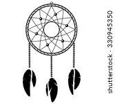 black and white dreamcatcher   Shutterstock .eps vector #330945350