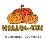 halloween pumpkins | Shutterstock .eps vector #330946499