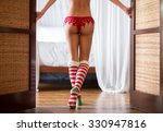 sexy female back with red... | Shutterstock . vector #330947816