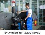 mechanic prepares a balance...   Shutterstock . vector #330948989