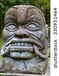 Maya Headstone Statue
