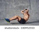 fitness model exercising sit...   Shutterstock . vector #330952553