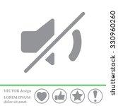 mute sound icon