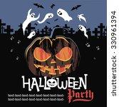 halloween banner  | Shutterstock .eps vector #330961394