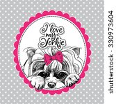 Emblem Of A Portrait Dog...