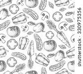 seamless pattern of vegetables. ... | Shutterstock .eps vector #330975356
