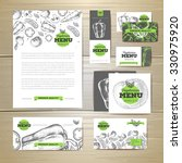 vegetarian food menu design.... | Shutterstock .eps vector #330975920