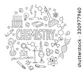 hand drawn vector set with... | Shutterstock .eps vector #330977960