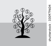 money tree isolated  | Shutterstock .eps vector #330979604