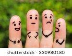 finger art. concept of group of ... | Shutterstock . vector #330980180