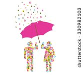 it's raining flowers | Shutterstock .eps vector #330982103