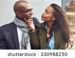flirting young african american ... | Shutterstock . vector #330988250