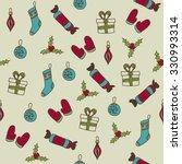 xmas pattern | Shutterstock .eps vector #330993314