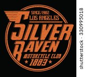silver raven motorcycle club ... | Shutterstock .eps vector #330995018