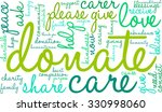 donate word cloud on a white... | Shutterstock .eps vector #330998060