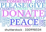 donate word cloud on a white... | Shutterstock .eps vector #330998534