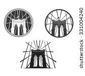 new york symbol   brooklyn... | Shutterstock .eps vector #331004240