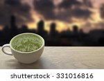 an empty white cup of green tea ...   Shutterstock . vector #331016816