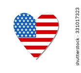 American Flag In Heart