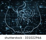human tangents series. abstract ... | Shutterstock . vector #331022966