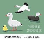 Snow Goose Cartoon Vector...