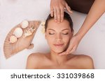 close up of arms of masseuse... | Shutterstock . vector #331039868