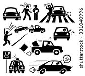 bad car driver furious driving... | Shutterstock . vector #331040996