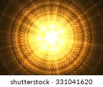 Shining Golden Mandala.abstrac...